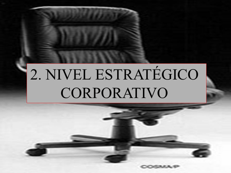2. NIVEL ESTRATÉGICO CORPORATIVO