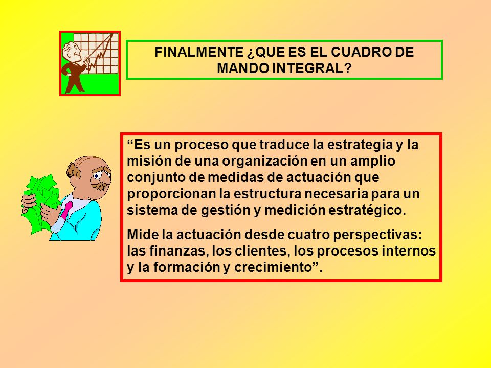 FINALMENTE ¿QUE ES EL CUADRO DE MANDO INTEGRAL