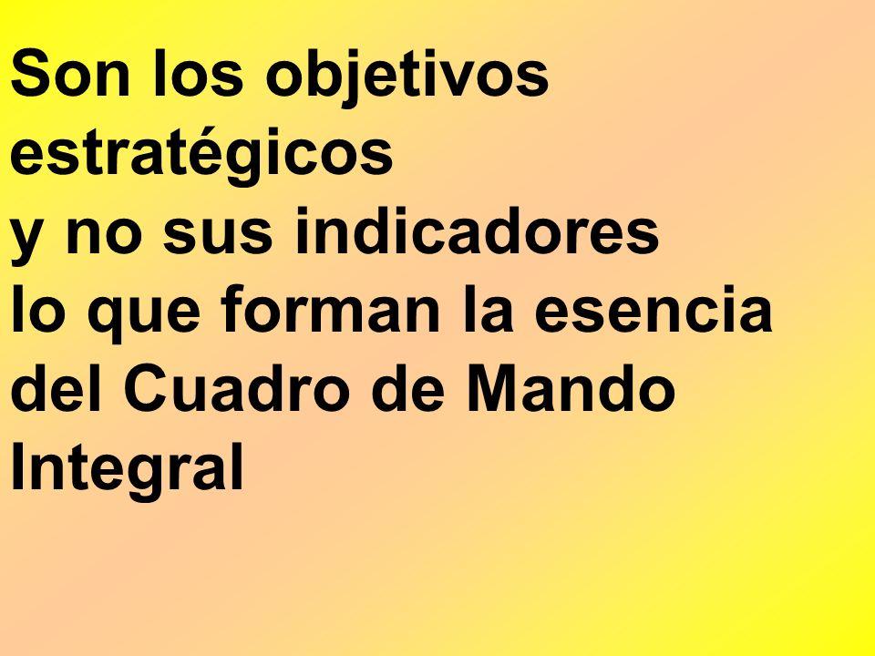Son los objetivos estratégicos