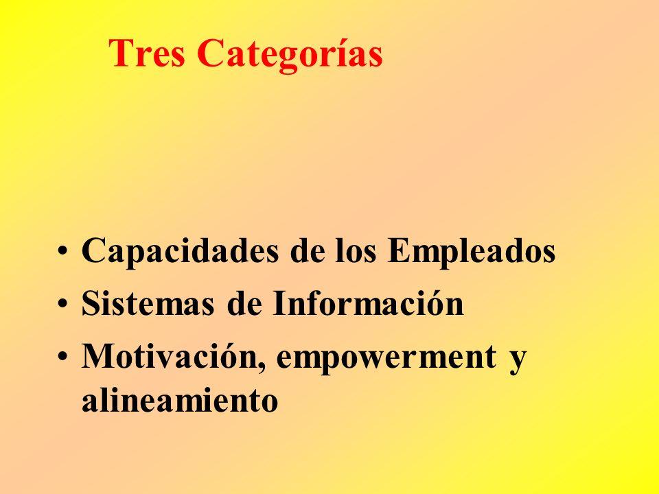 Tres Categorías Capacidades de los Empleados Sistemas de Información