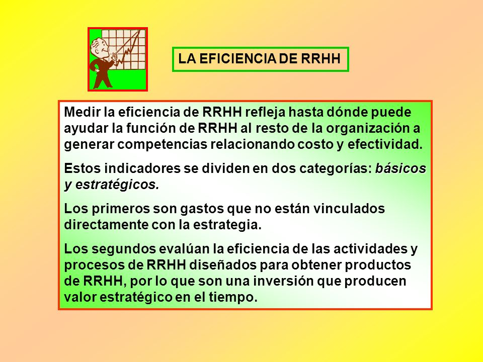 LA EFICIENCIA DE RRHH