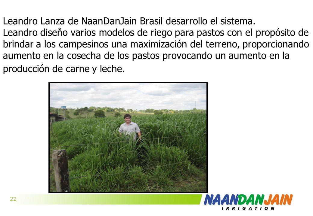 Leandro Lanza de NaanDanJain Brasil desarrollo el sistema