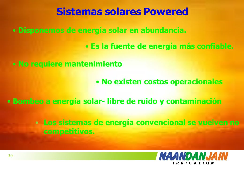 Sistemas solares Powered