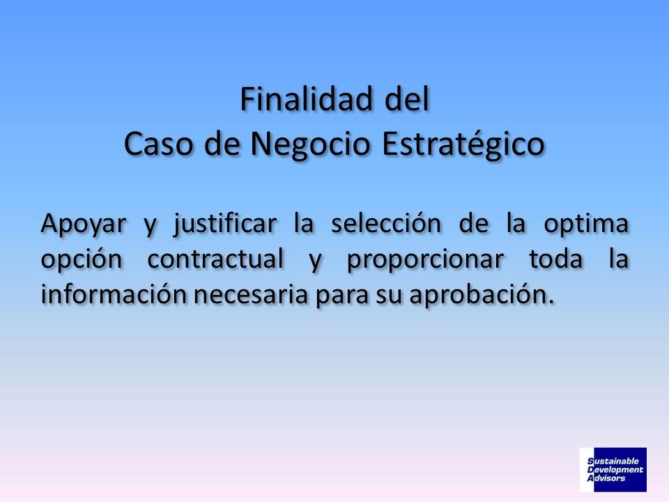 Finalidad del Caso de Negocio Estratégico