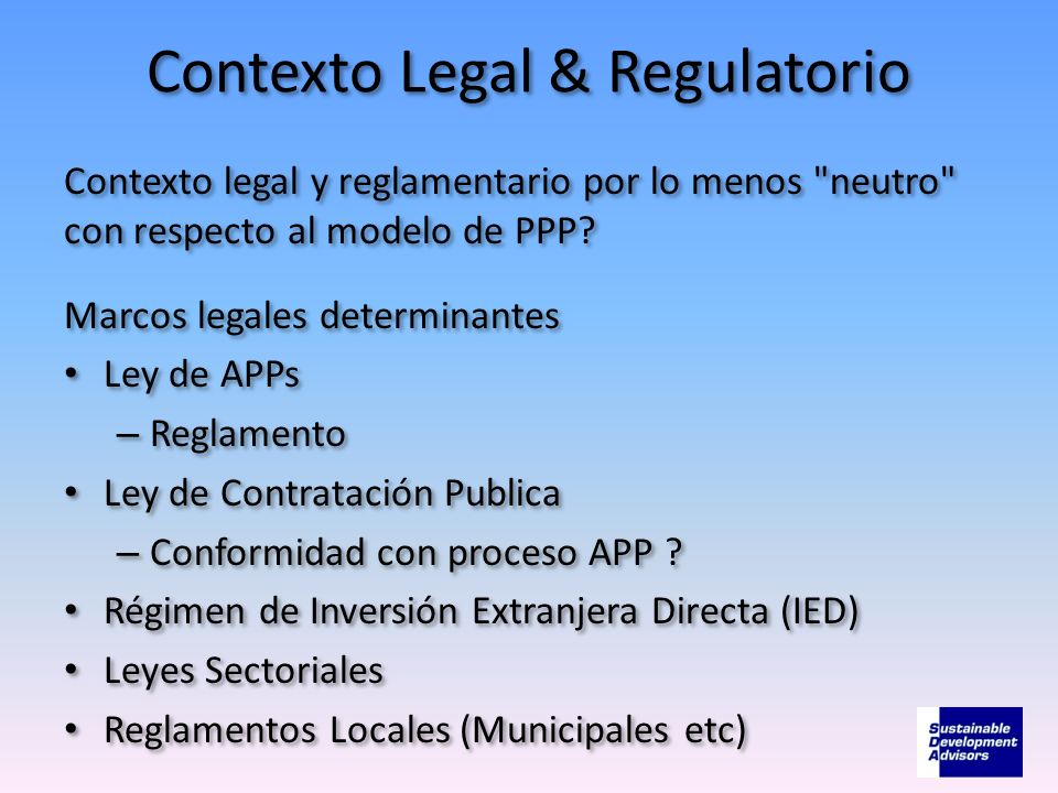 Contexto Legal & Regulatorio