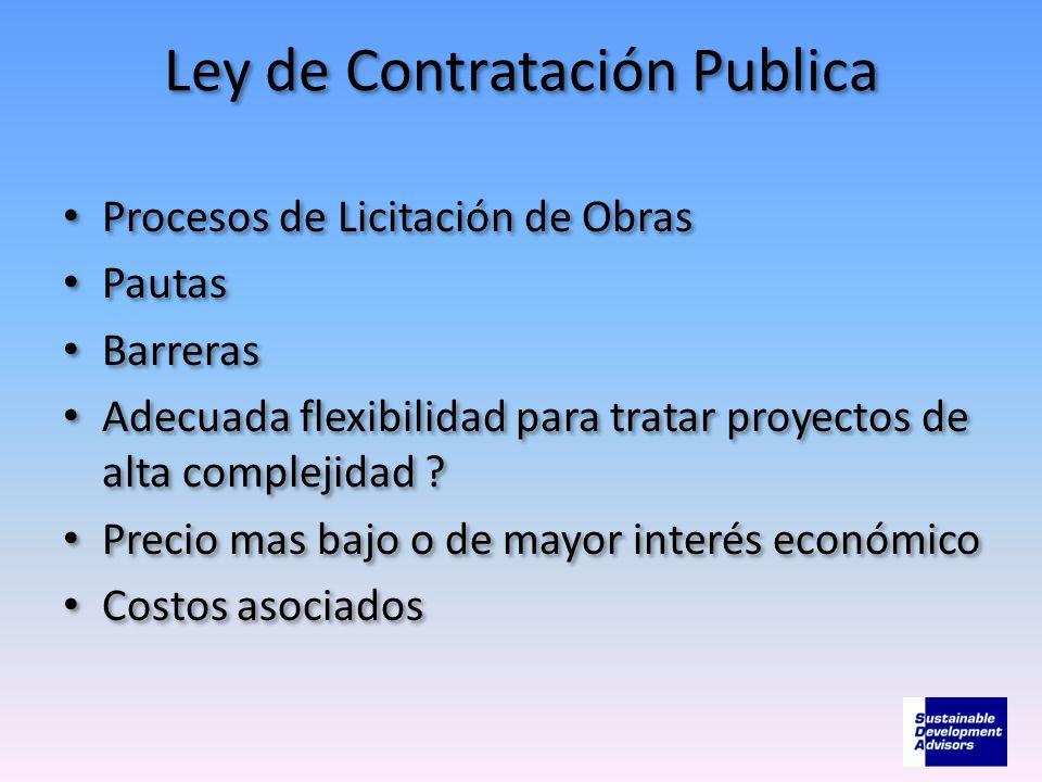 Ley de Contratación Publica