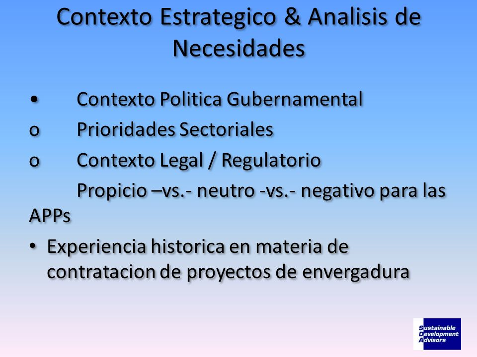 Contexto Estrategico & Analisis de Necesidades