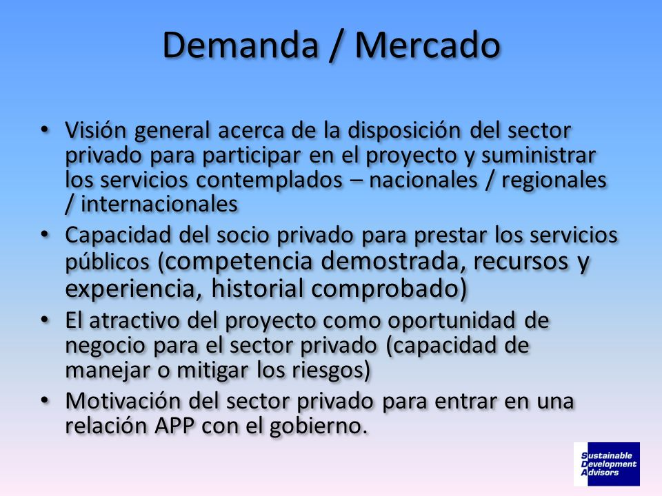 Demanda / Mercado