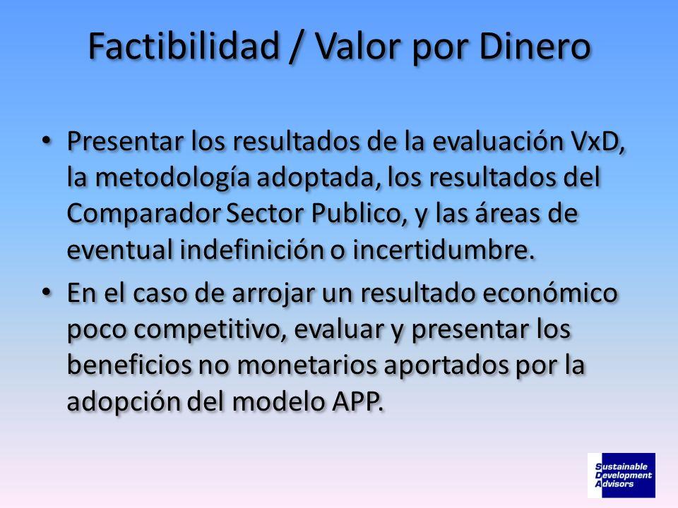 Factibilidad / Valor por Dinero