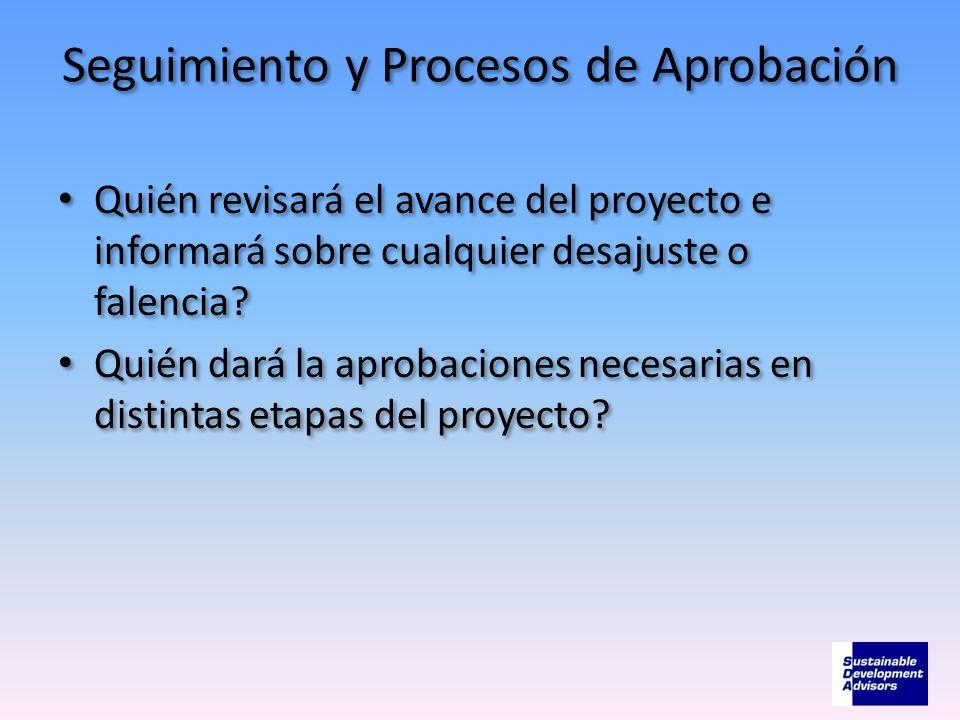 Seguimiento y Procesos de Aprobación