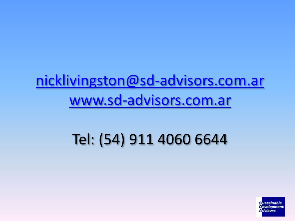nicklivingston@sd-advisors. com. ar www. sd-advisors. com