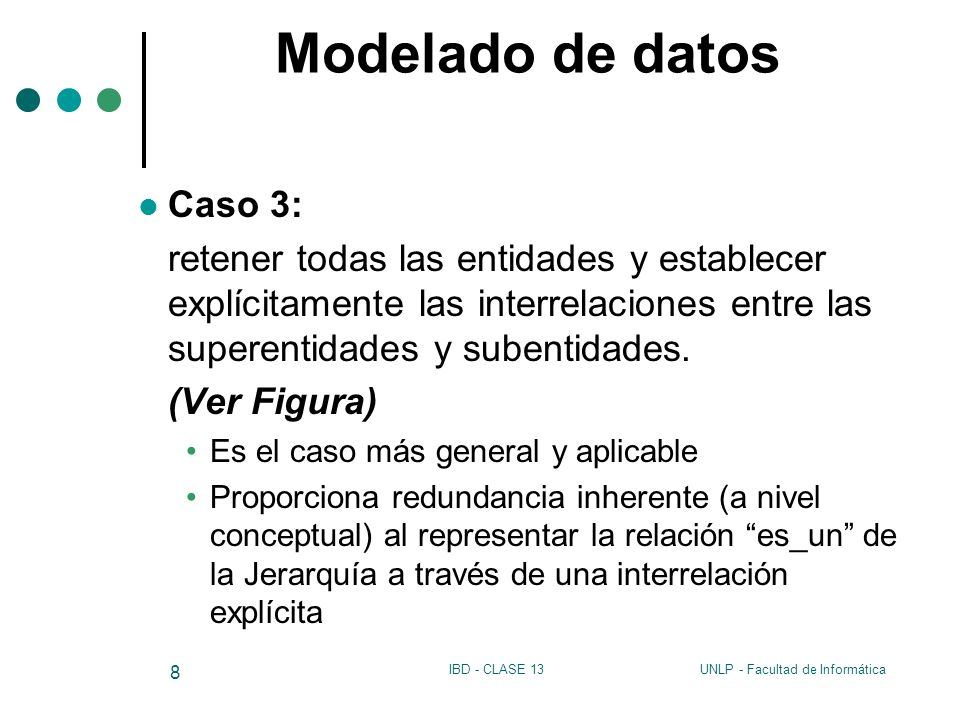 Modelado de datos Caso 3: