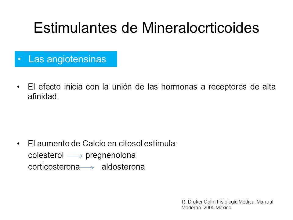 Estimulantes de Mineralocrticoides