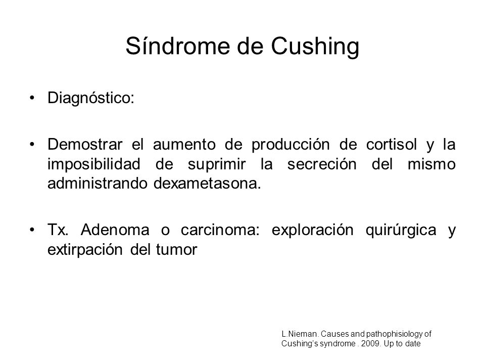 Síndrome de Cushing Diagnóstico: