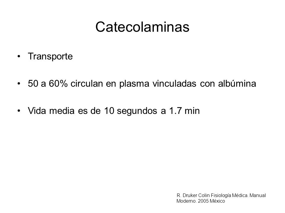 Catecolaminas Transporte