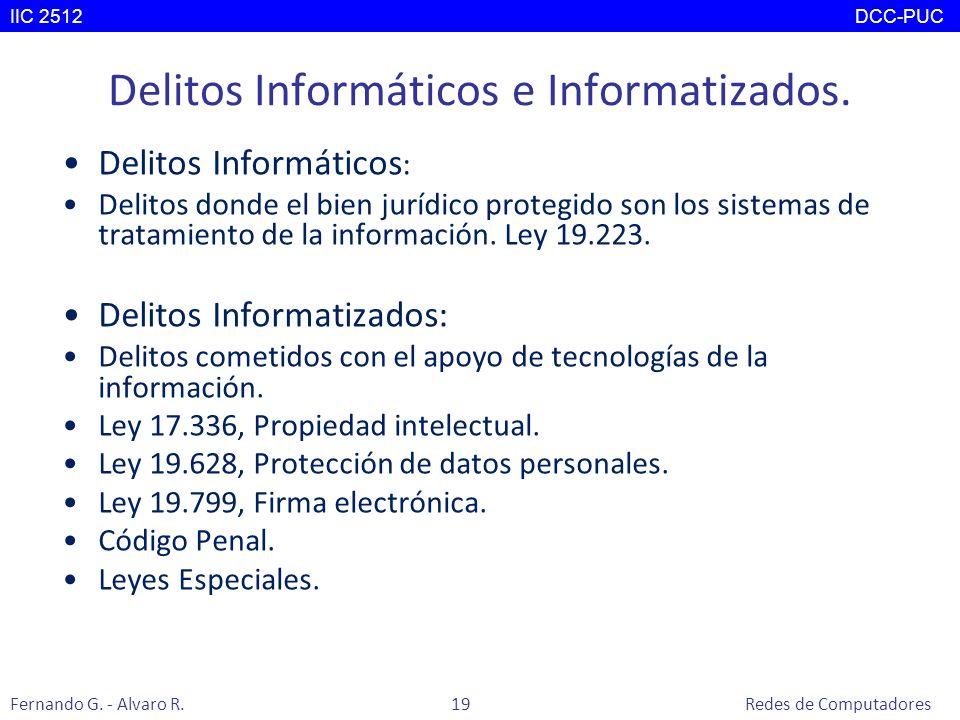 Delitos Informáticos e Informatizados.