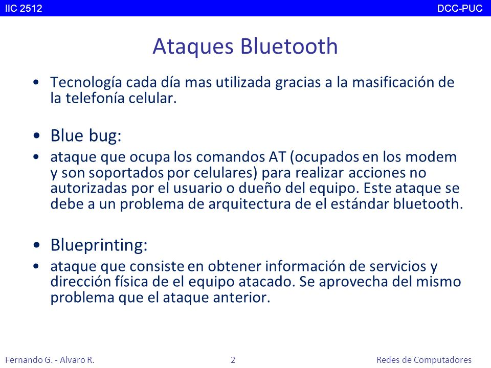 Ataques Bluetooth Blue bug: Blueprinting: