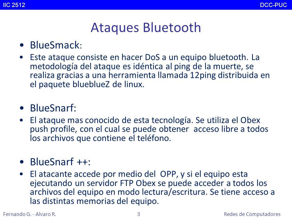 Ataques Bluetooth BlueSmack: BlueSnarf: BlueSnarf ++: