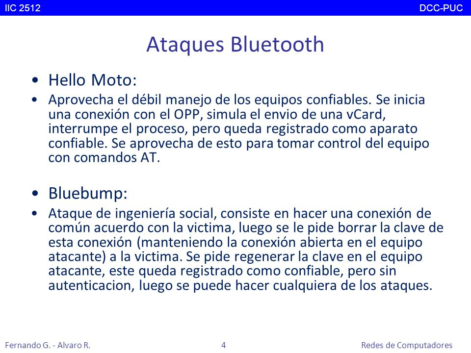 Ataques Bluetooth Hello Moto: Bluebump:
