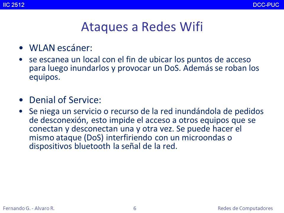 Ataques a Redes Wifi WLAN escáner: Denial of Service: