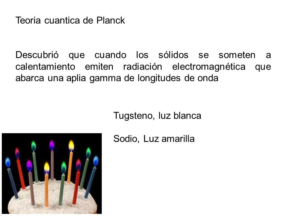 Teoria cuantica de Planck