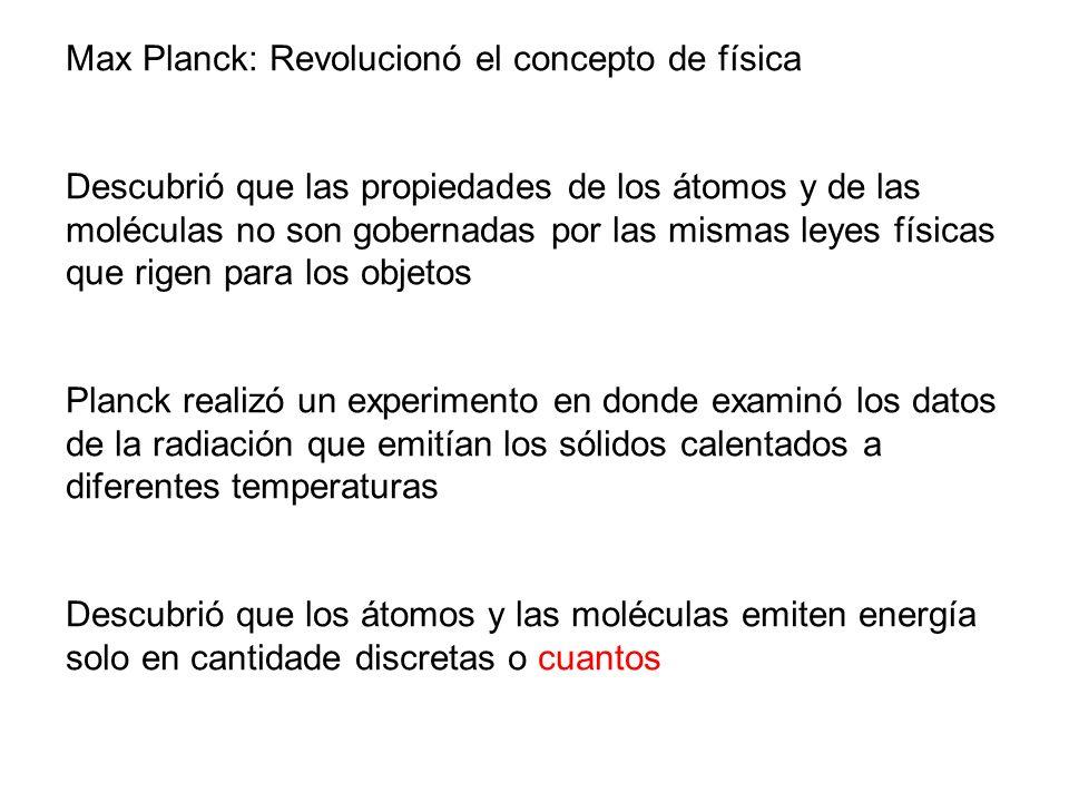 Max Planck: Revolucionó el concepto de física