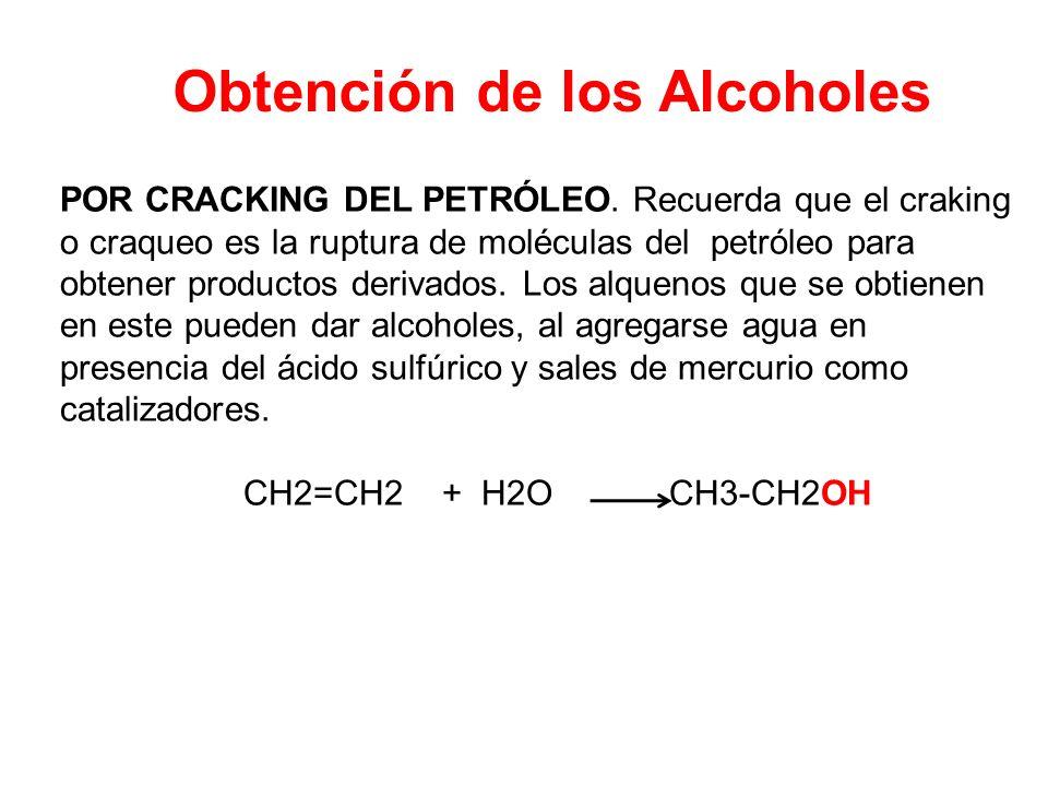 Obtención de los Alcoholes