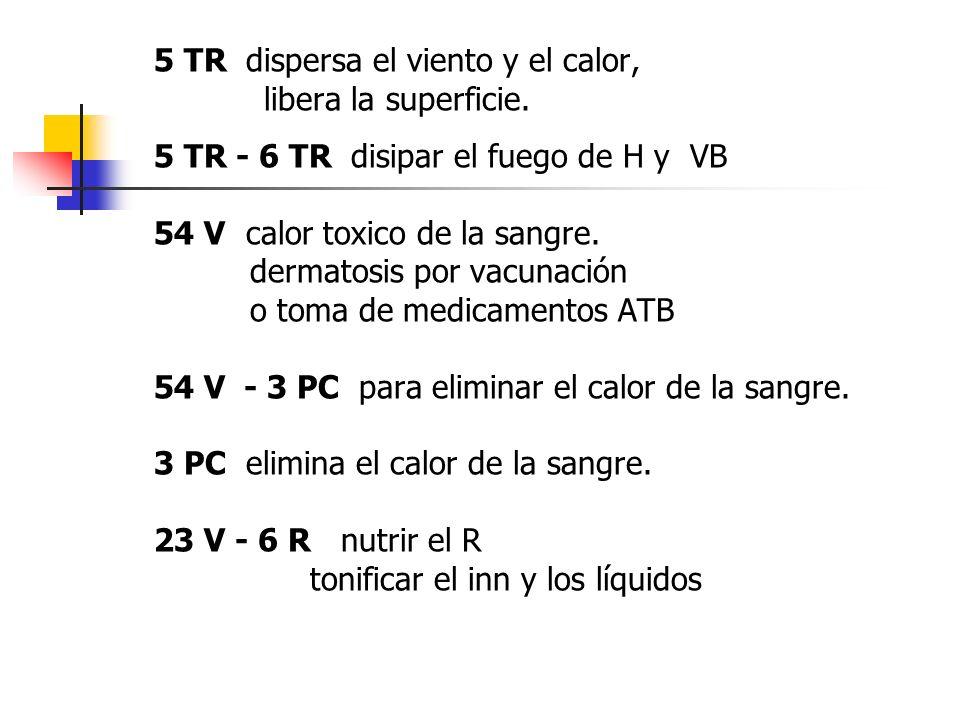 5 TR dispersa el viento y el calor,