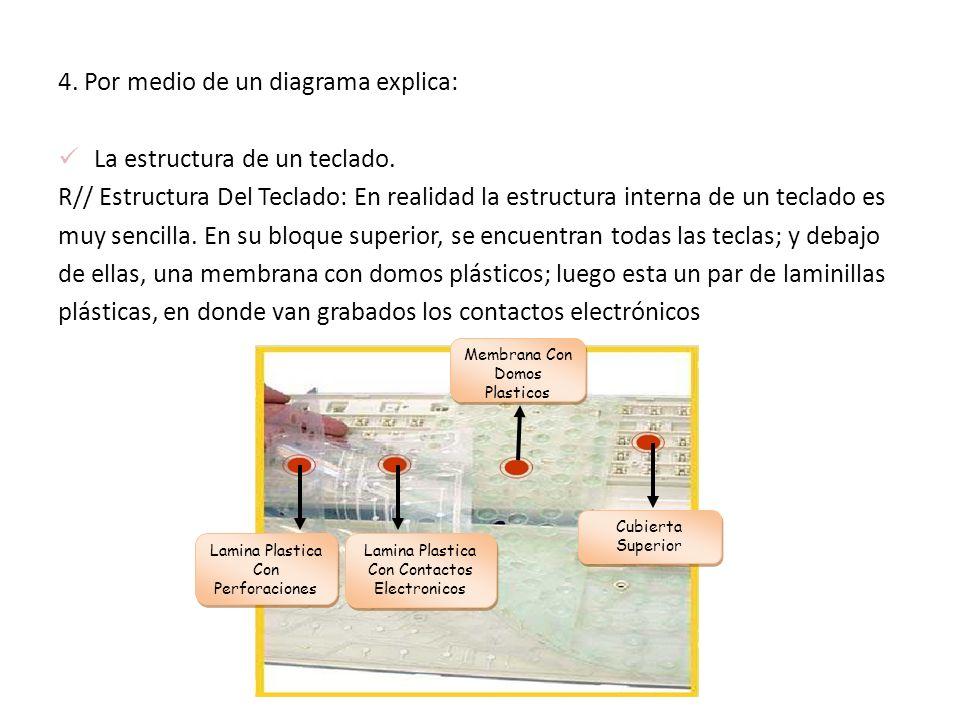4. Por medio de un diagrama explica: La estructura de un teclado.