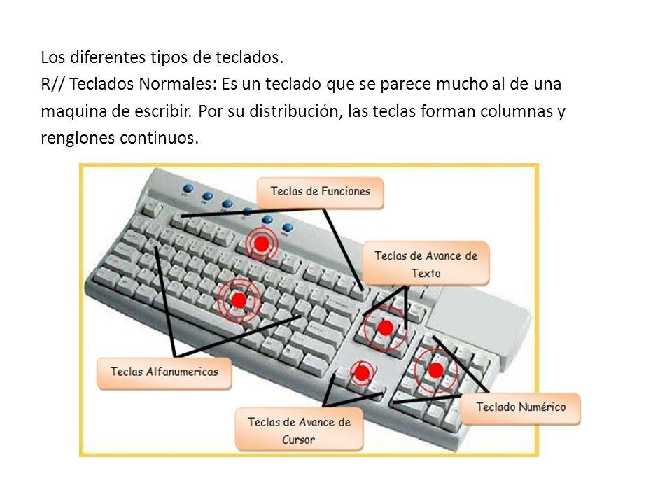 Los diferentes tipos de teclados