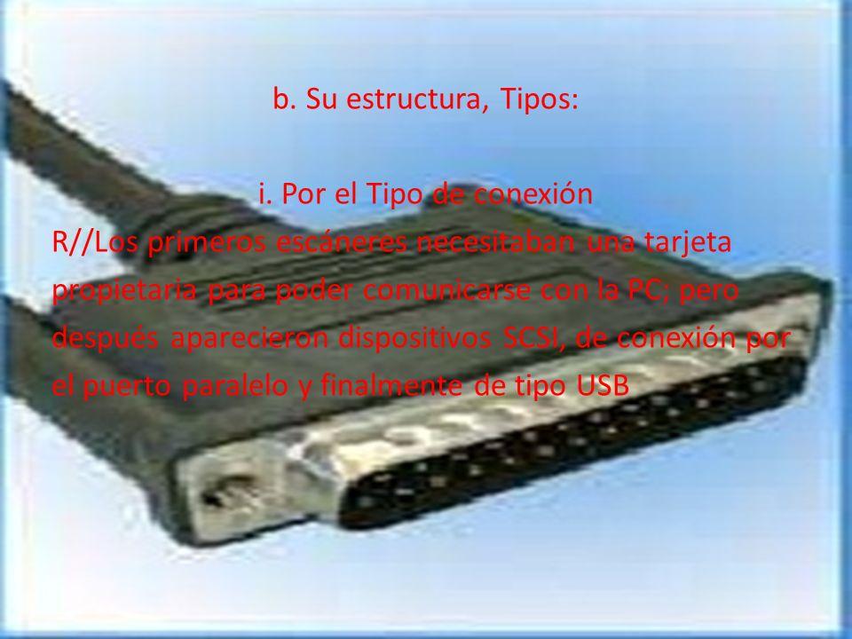 i. Por el Tipo de conexión