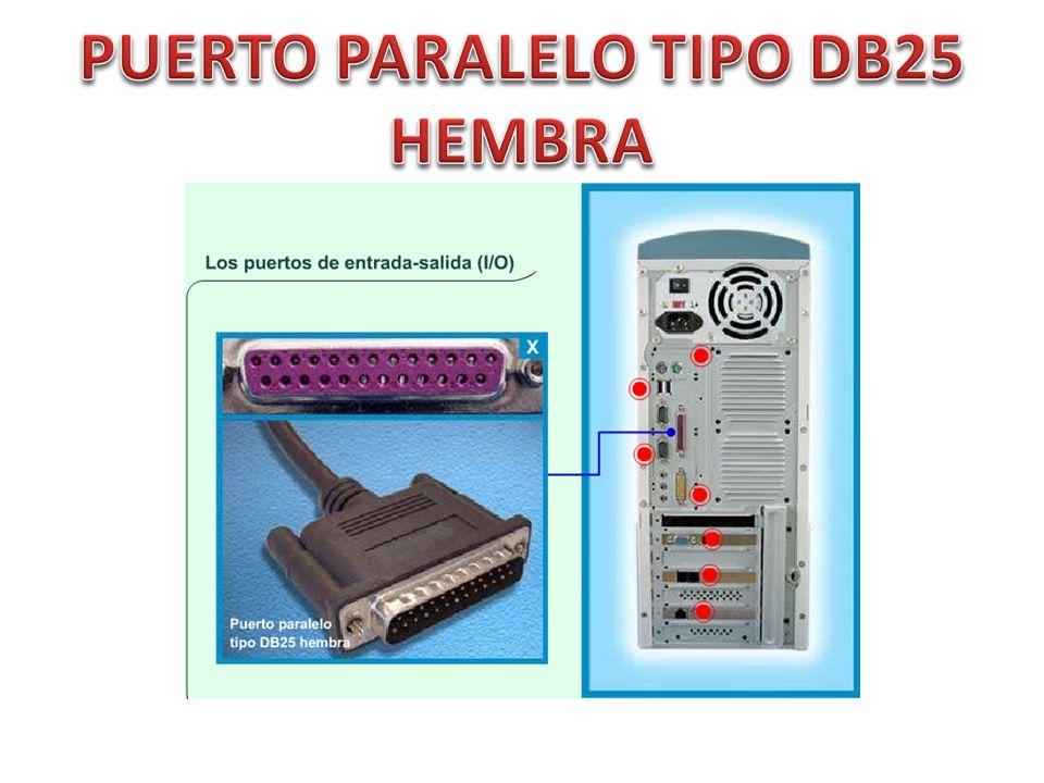 PUERTO PARALELO TIPO DB25 HEMBRA