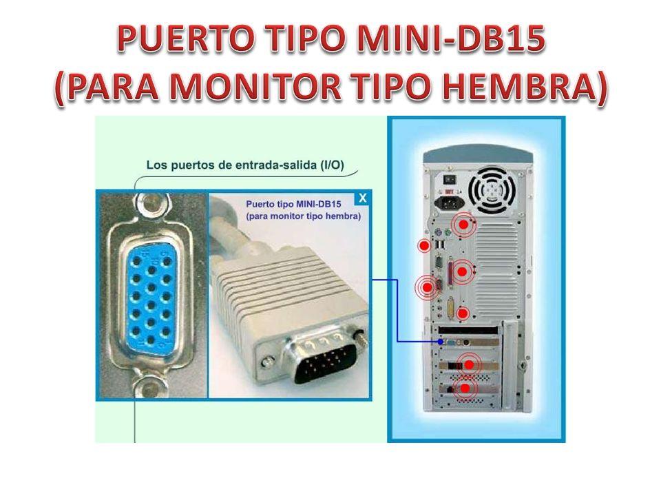 PUERTO TIPO MINI-DB15 (PARA MONITOR TIPO HEMBRA)