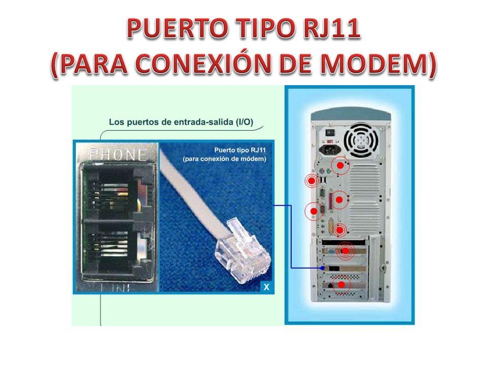 PUERTO TIPO RJ11 (PARA CONEXIÓN DE MODEM)