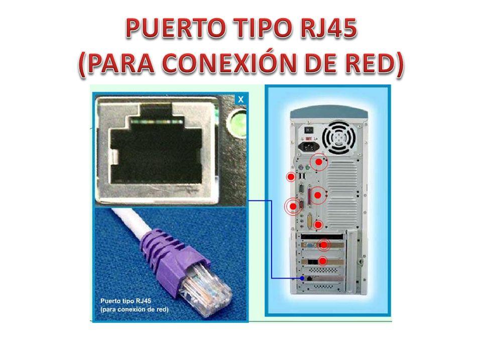 PUERTO TIPO RJ45 (PARA CONEXIÓN DE RED)