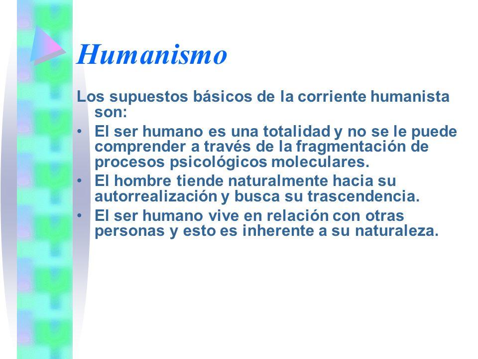 Humanismo Los supuestos básicos de la corriente humanista son: