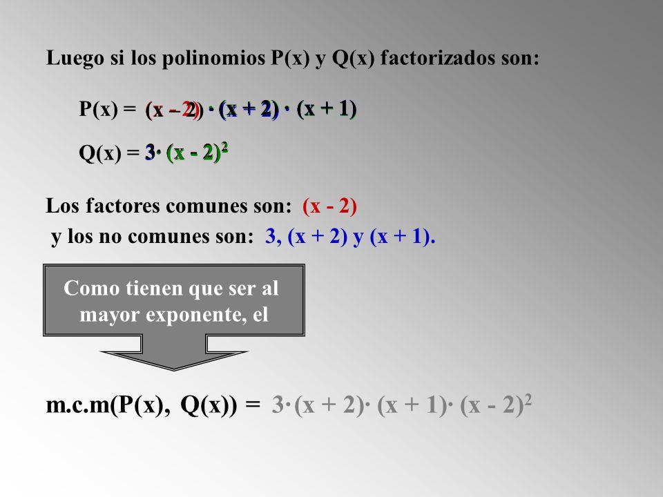 m.c.m(P(x), Q(x)) = 3· (x + 2)· (x + 1)· (x - 2)2