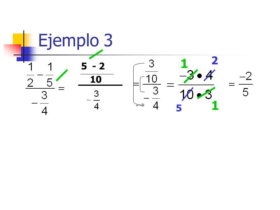 Ejemplo 3 2 1 5 - 2 10 1 5