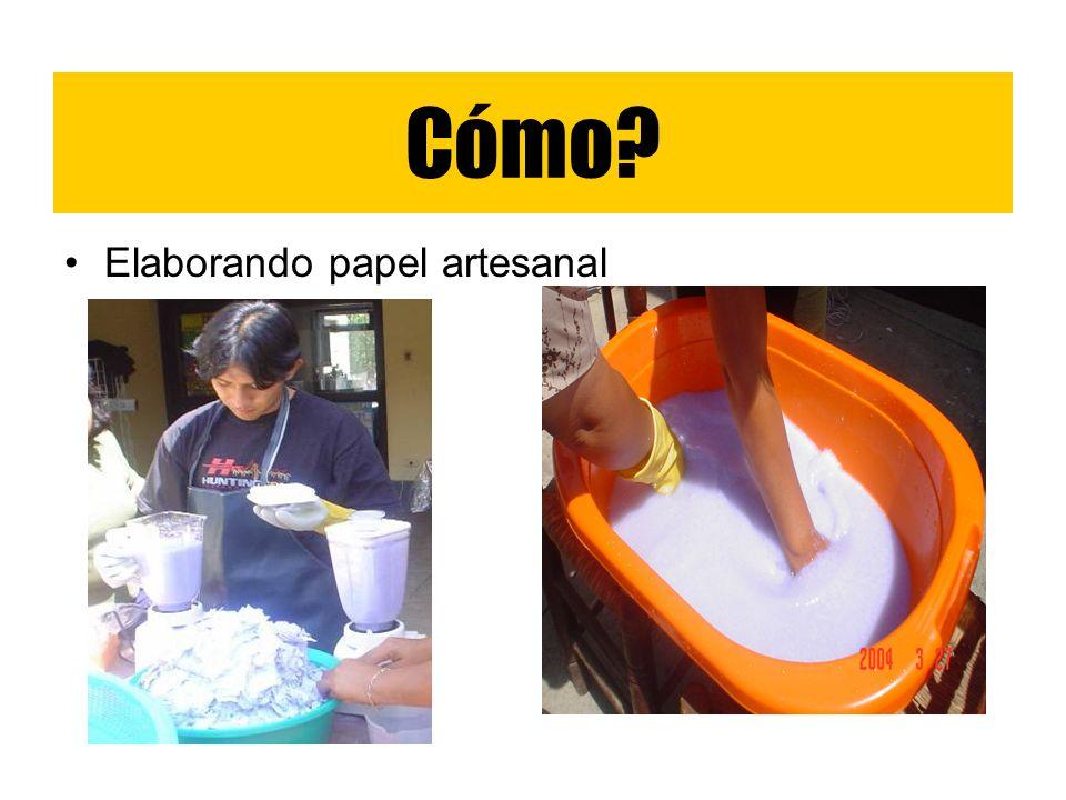 Cómo Elaborando papel artesanal