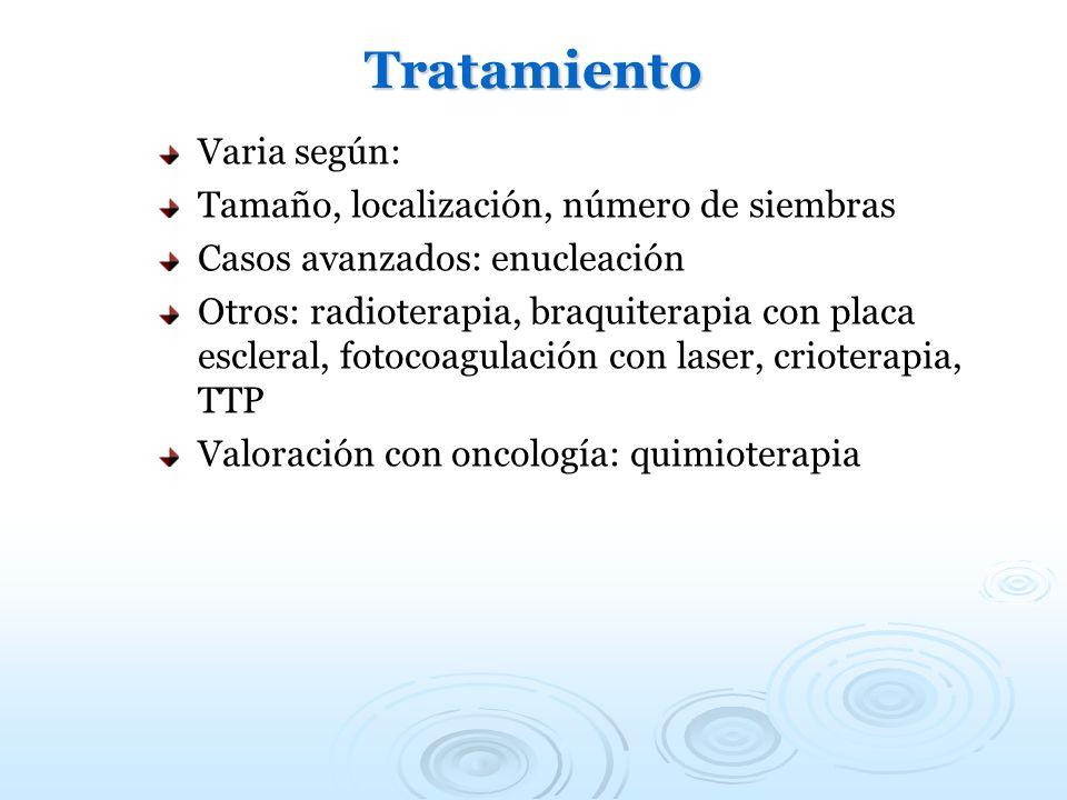 Tratamiento Varia según: Tamaño, localización, número de siembras