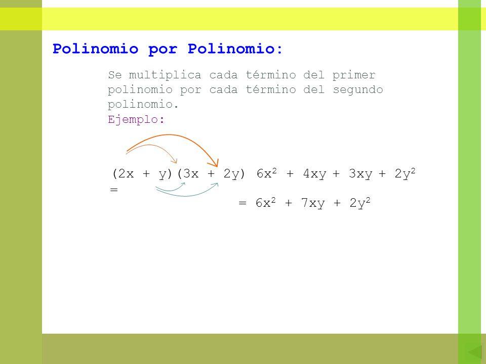 Polinomio por Polinomio: