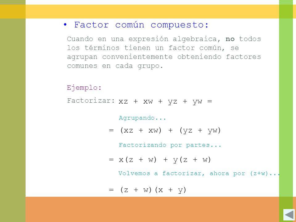 Factor común compuesto: