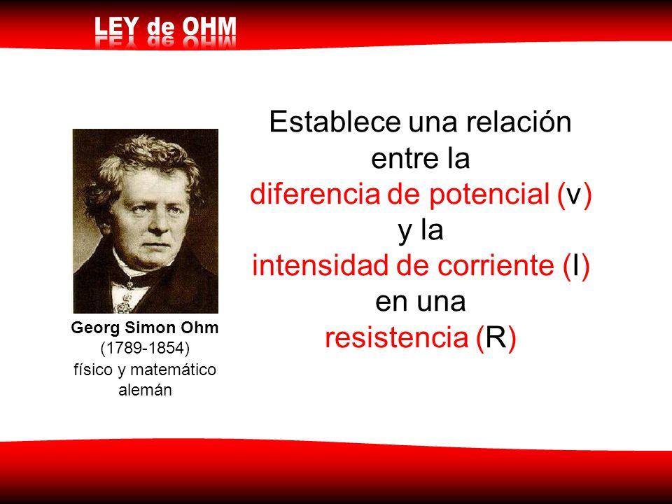 Establece una relación entre la diferencia de potencial (v) y la