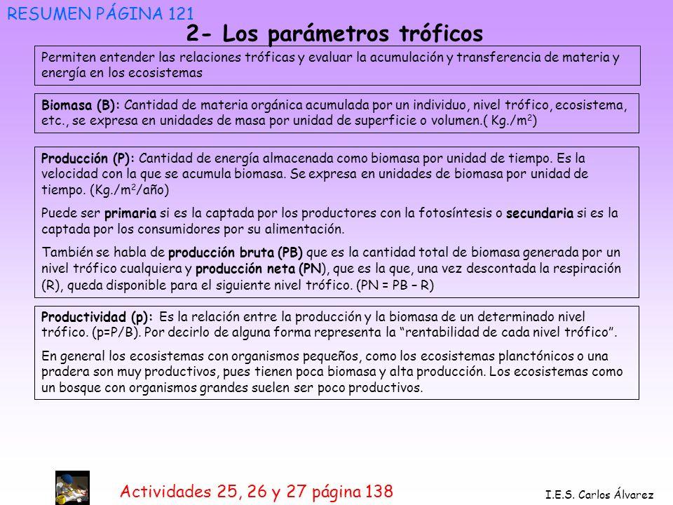 2- Los parámetros tróficos