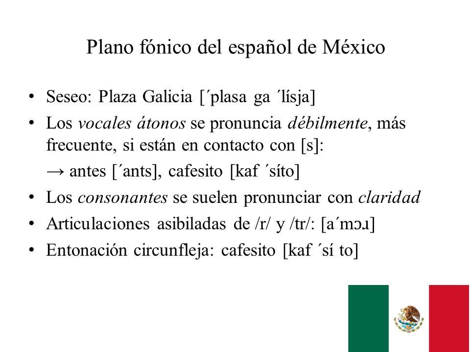 Plano fónico del español de México
