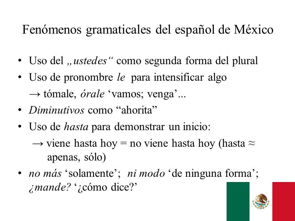 Fenómenos gramaticales del español de México