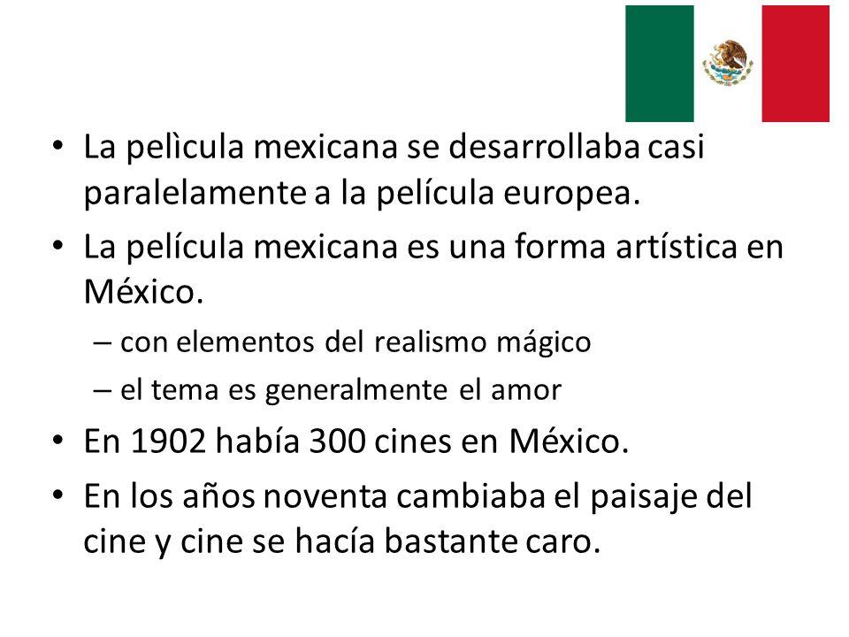 La película mexicana es una forma artística en México.