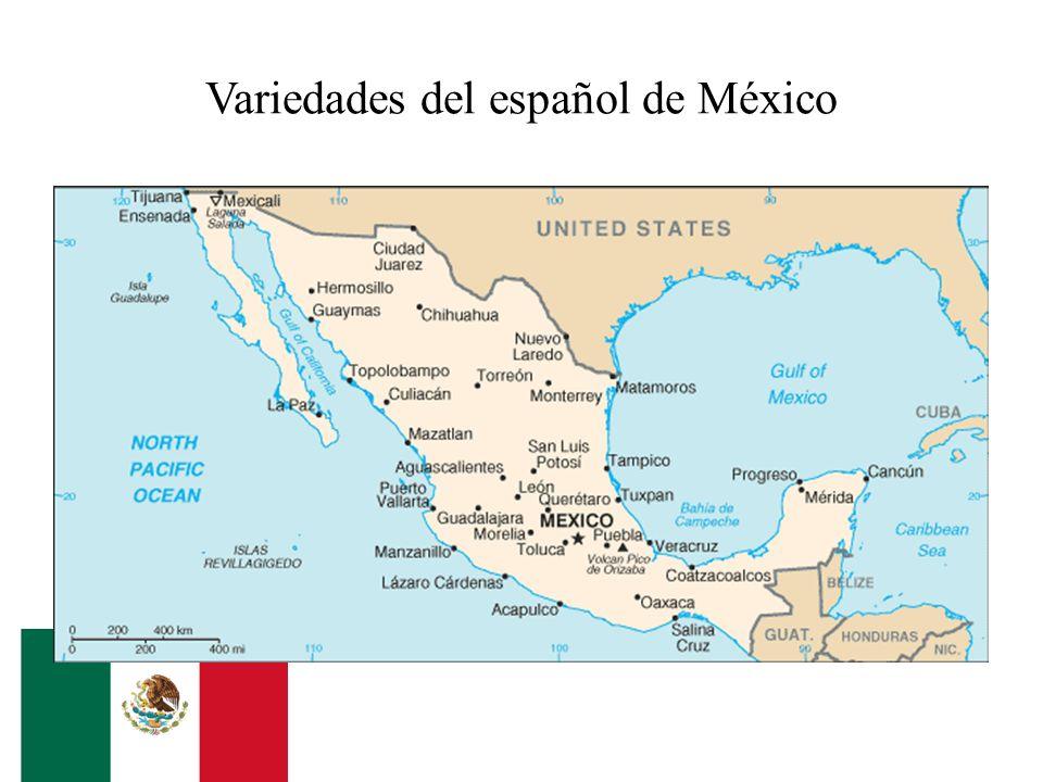 Variedades del español de México
