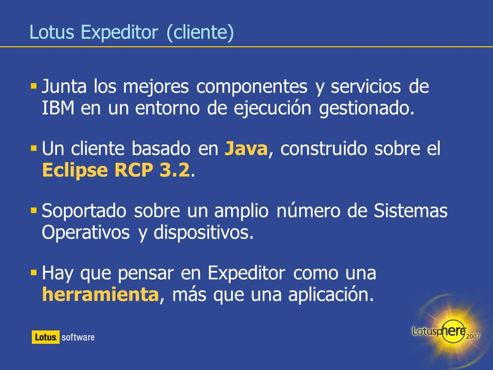 Lotus Expeditor (cliente)