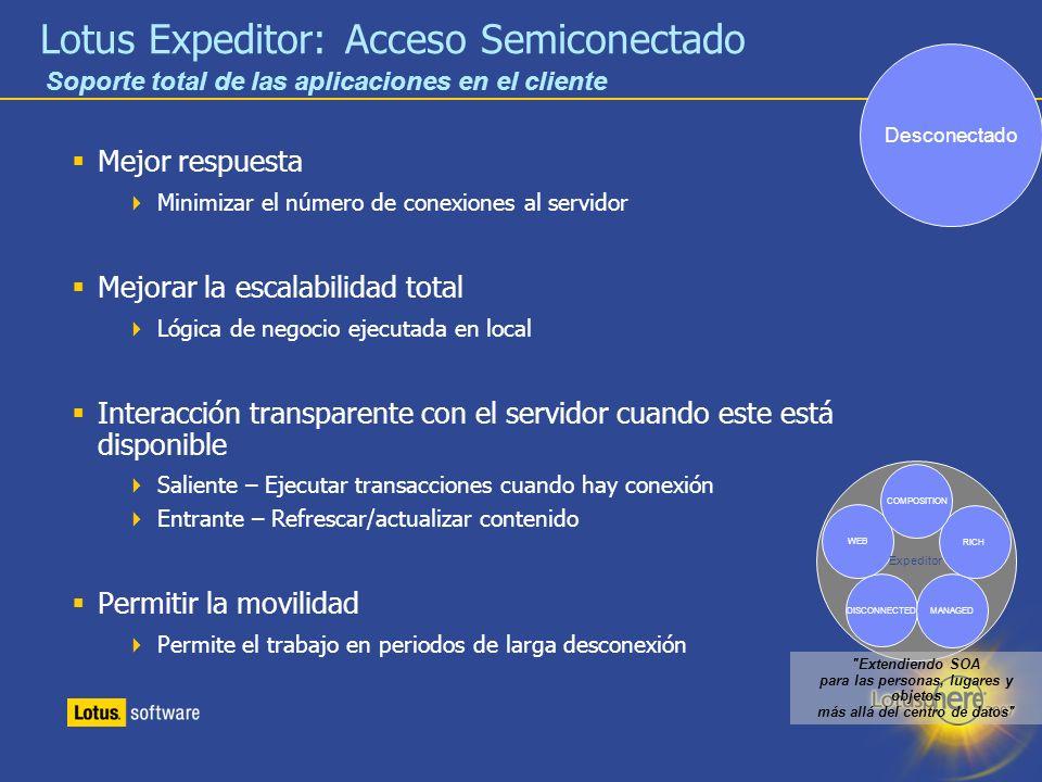 Lotus Expeditor: Acceso Semiconectado
